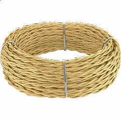Ретро кабель витой 3х1,5 (золотой песок) Ретро кабель витой 3х1,5 (золотой песок)