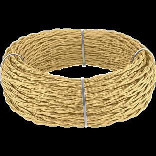 Ретро кабель витой 2х1,5 (золотой песок) Ретро кабель витой 2х1,5 (золотой песок)