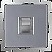 Телефонная розетка RJ-11 (серебряный) WL06-RJ-11