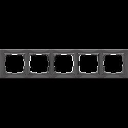 Рамка на 5 постов (серо-коричневый, basic) WL03-Frame-05