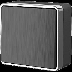 Выключатель одноклавишный Gallant (графит рифленый) WL15-01-01