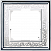 Рамка на 1 пост (хром/белый) WL77-Frame-01