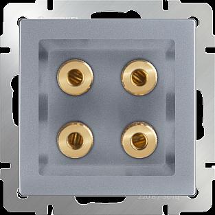 Акустическая розетка (серебряный) WL06-AUDIOx4