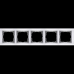 Рамка на 5 постов (белый) WL03-Frame-05-white