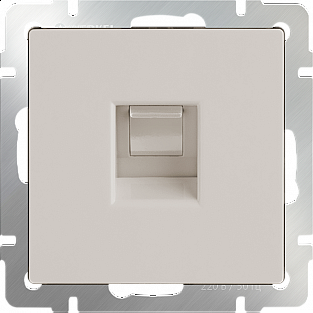 Телефонная розетка RJ-11(слоновая кость) WL03-RJ-11-ivory