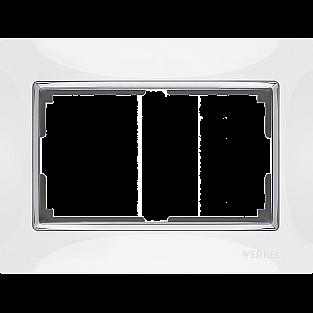 Рамка для двойной розетки (белый) WL03-Frame-01-DBL-white