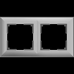 Рамка на 2 поста (серебряный) WL14-Frame-02