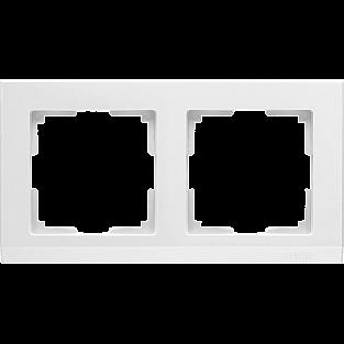 Рамка на 2 поста (белый) WL04-Frame-02-white