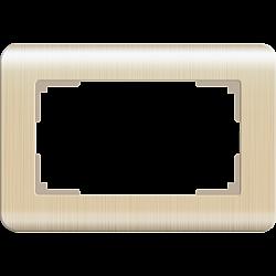 Рамка для двойной розетки (шампань) WL12-Frame-01-DBL