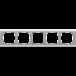 Рамка на 5 постов (серебряный) WL12-Frame-05