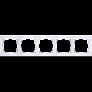Рамка на 5 постов (белый, basic) WL03-Frame-05