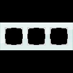 Рамка на 3 поста (натуральное стекло) WL01-Frame-03