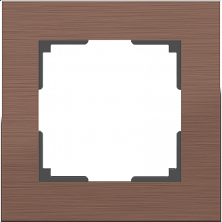 Рамка на 1 пост (коричневый алюминий) WL11-Frame-01