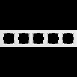 Рамка на 5 постов (белый) WL04-Frame-05-white