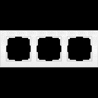 Рамка на 3 поста (белый) WL05-Frame-03-white