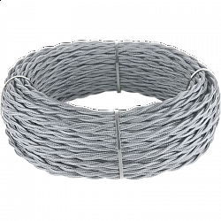 Ретро кабель витой 2х2,5 (серый) Ретро кабель витой 2х2,5 (серый)