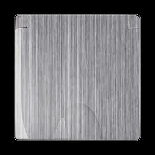 Накладка для розетки IP44 с крышкой (глянцевый никель) WL02-SKGSС-IP44-CP