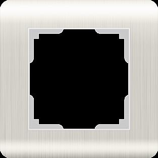 Рамка на 1 пост (перламутровый) WL12-Frame-01