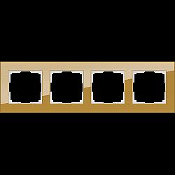 Рамка на 4 поста (бронзовый) WL01-Frame-04