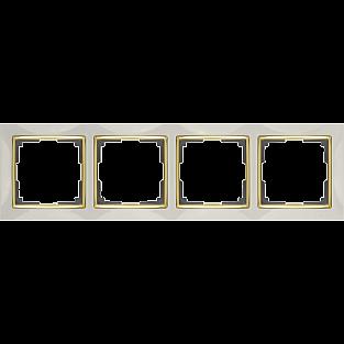 Рамка на 4 поста (слоновая кость/золото) WL03-Frame-04-ivory-GD
