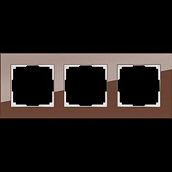 Рамка на 3 поста (мокко) WL01-Frame-03