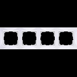 Рамка на 4 поста (белый, basic) WL03-Frame-04