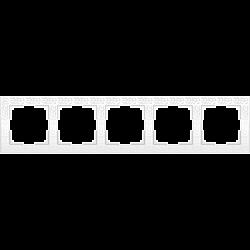 Рамка на 5 постов (белый) WL05-Frame-05-white