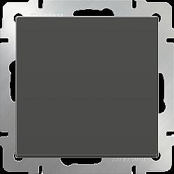Выключатель одноклавишный проходной (серо-коричневый) WL07-SW-1G-2W