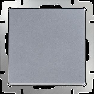 Выключатель одноклавишный (серебряный) WL06-SW-1G