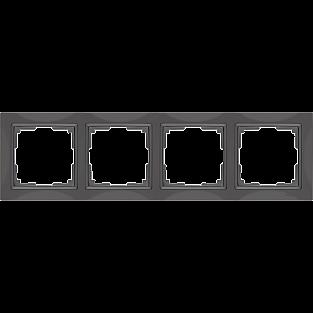 Рамка на 4 поста (серо-коричневый, basic) WL03-Frame-04