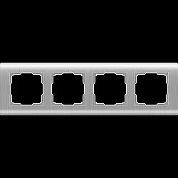 Рамка на 4 поста (серебряный) WL12-Frame-04