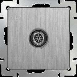 ТВ-розетка оконечная (cеребряный рифленый) WL09-TV