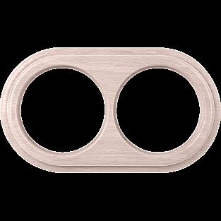 Рамка на 2 поста (беленый дуб) WL15-frame-02