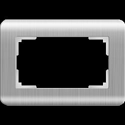 Рамка для двойной розетки (серебряный) WL12-Frame-01-DBL