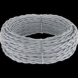 Ретро кабель витой 3х2,5 (серый) Ретро кабель витой 3х2,5 (серый)