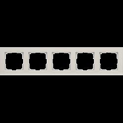 Рамка на 5 постов (слоновая кость) WL04-Frame-05-ivory