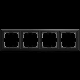 Рамка на 4 поста (черный матовый) WL14-Frame-04