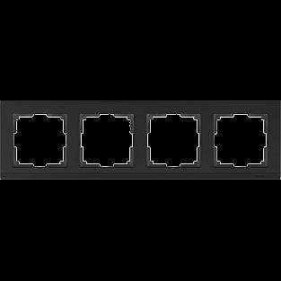 Рамка на 4 поста (черный) WL04-Frame-04-black