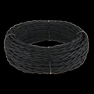 Ретро кабель витой 2х1,5 (черный) Ретро кабель витой 2х1,5 (черный)