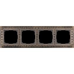 Рамка на 4 поста (бронза) WL07-Frame-04