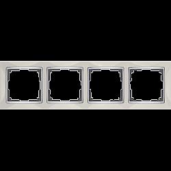 Рамка на 4 поста (слоновая кость) WL03-Frame-04-ivory