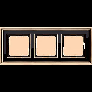 Рамка на 3 поста (золото/черный) WL17-Frame-03