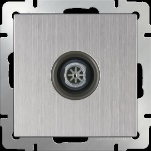 ТВ розетка оконечная (глянцевый никель) WL02-TV