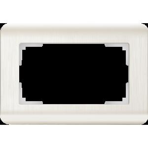 Рамка для двойной розетки (перламутровый) WL12-Frame-01-DBL