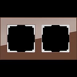 Рамка на 2 поста (мокко) WL01-Frame-02