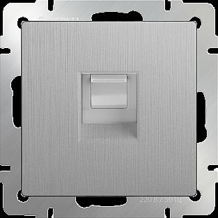 Розетка Ethernet RJ-45 (cеребряный рифленый) WL09-RJ-45