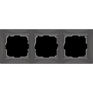 Рамка на 3 поста (серо-коричневый, basic) WL03-Frame-03