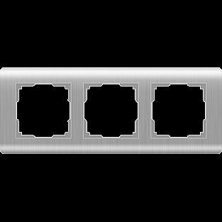 Рамка на 3 поста (серебряный) WL12-Frame-03