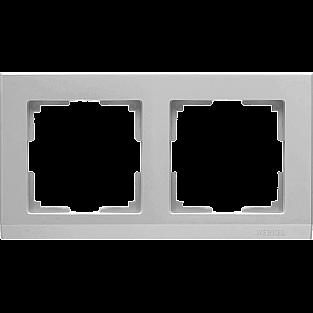 Рамка на 2 поста (серебряный) WL04-Frame-02