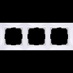Рамка на 3 поста (белый, basic) WL03-Frame-03
